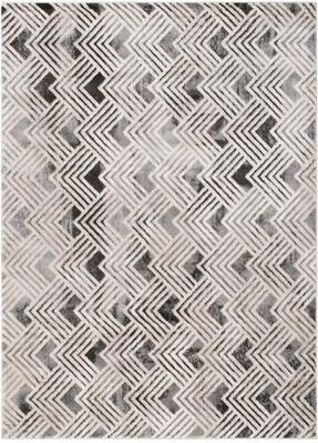 "Ebern Designs Sherlock Geometric Block Gray/Beige Area Rug Rug Size: Rectangle 5'3"" x 7'3"""
