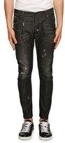 DSQUARED2 Tidy Biker Distressed Jeans, Black