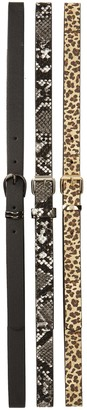 Linea Pelle Skinny Belts - Pack of 3
