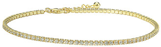 Swarovski Golden Moon Women's Anklets Gold - 14k Gold-Plated Anklet With Crystals