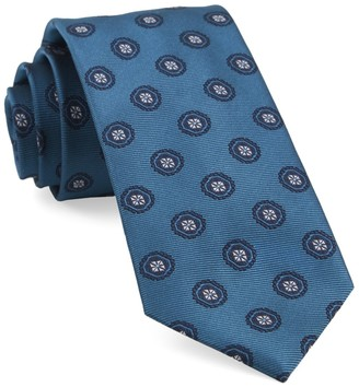 Tie Bar Counter Medallions Teal Tie