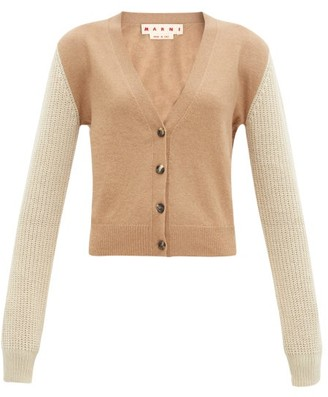 Marni Colour-block Cashmere-blend Cardigan - Camel