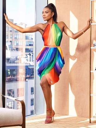 New York & Co. Petite Rainbow Draped Dress