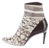 Barbara Bui Snakeskin Ankle Boots