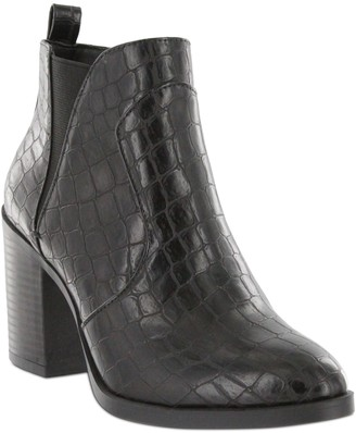 Mia Faux-Leather Pull-On Ankle Booties - Hart
