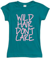 Urban Smalls Peacock 'Wild Hair Don't Care' Fitted Tee - Toddler & Girls