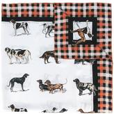 Stella McCartney dog tartan print scarf
