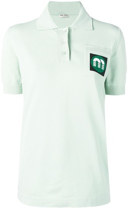 Miu Miu Logo Polo Shirt