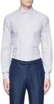 Isaia 'Milano' mix stripe shirt