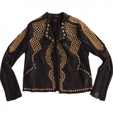 Givenchy Leather Jacket With Gold Studs