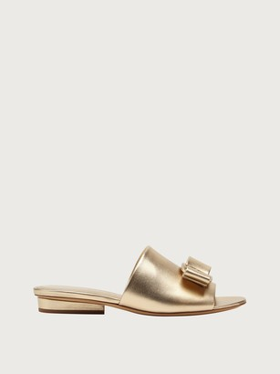 Salvatore Ferragamo Women Viva slide Gold Size 4.5