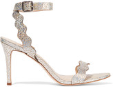 Loeffler Randall Amelia glittered textured-leather sandals