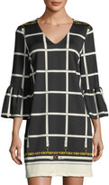 Julie Brown Gracen Grid-Print Dress
