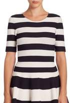 Akris Punto Striped Knit Top