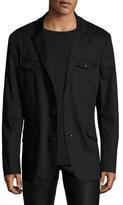 John Varvatos Solid Notch Lapel Soft Jacket