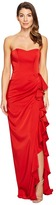 Faviana Faille Satin Strapless w/ Cascade 7950 Women's Dress