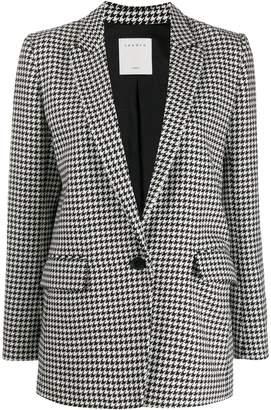 Sandro Paris houndstooth pattern blazer