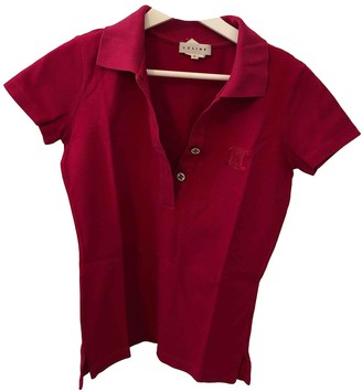 Celine Red Cotton Top for Women