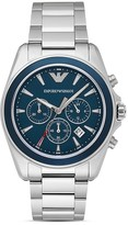 Emporio Armani Blue Stainless Steel Bracelet Watch, 44mm