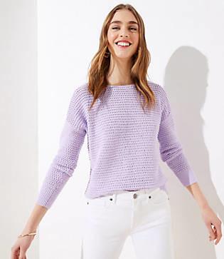 LOFT Petite Stitchy Sweater