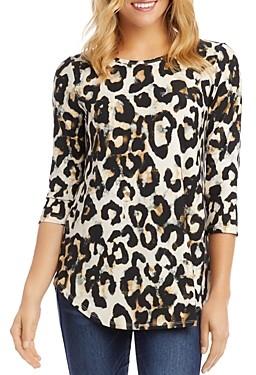 Karen Kane Printed Shirttail Hem Top