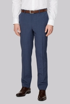 French Connection Slim Fit Blue Textured Pants