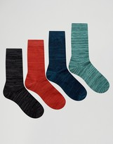Jack and Jones Socks 4 Pack in Marl