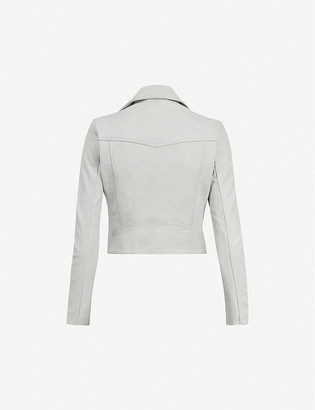 AllSaints Elora cropped leather jacket