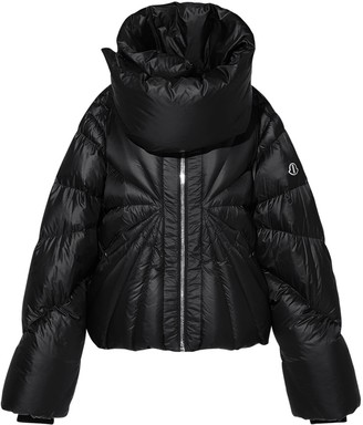 Moncler + Rick Owens High Collar Nylon Down Jacket