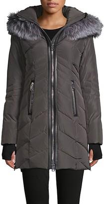 Nicole Benisti Fox Fur-Trim Puffer Jacket