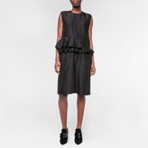 Paul Smith Women's Black Wool-Silk Peplum-Frill Dress