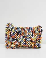 Asos DESIGN Multi Colored Bead Cross Body Bag