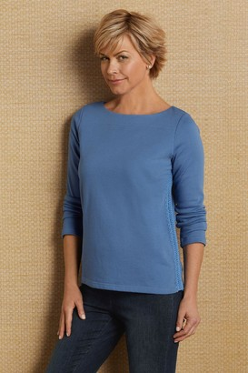 Soft Surroundings Side Stitch Pullover