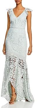 ML Monique Lhuillier Lace Evening Gown