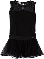 Diesel Mesh Layer Dress (Kids) - Black-4