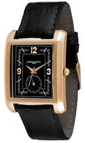 Jorg Gray Unisex Quartz Watch with Black Dial Analogue Display and Black Leather Strap JG1940-16