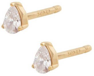 Wanderlust + Co Pear Petite Topaz Gold Sterling Silver Earrings