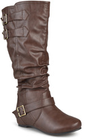 Journee Collection Brown Tiffany Slouchy Wide-Calf Boot