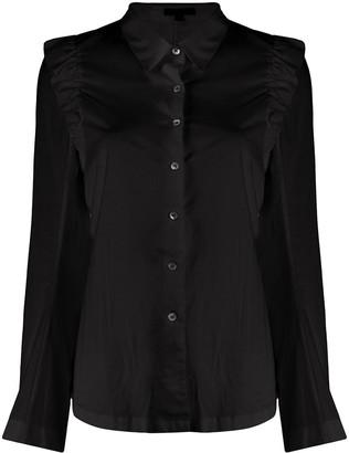 Ann Demeulemeester Ruffled Shoulder Cotton Shirt