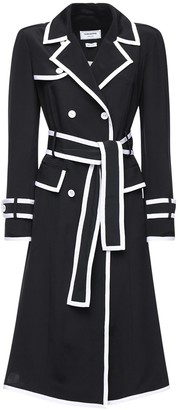 Thom Browne Knee Length Silk Trench Dress