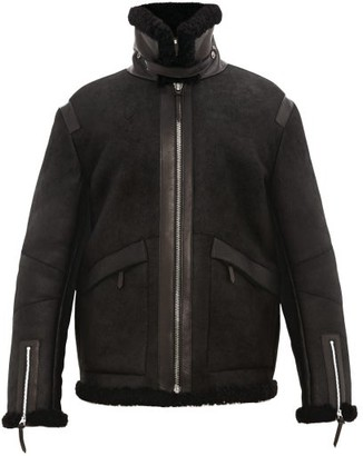 Bottega Veneta Shearling Aviator Jacket - Mens - Black