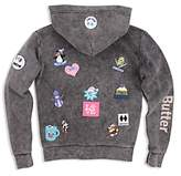 Butter Shoes Girls' Mineral-Washed I Love Snow Hoodie - Little Kid