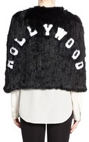 Jocelyn Women's 'Hollywood' Genuine Rabbit Fur Cape