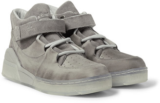 Converse + A-Cold-Wall* Leather And Suede High-Top Sneakers