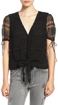 Articles of Society &Corrin& Lace Tie Waist Top