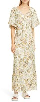 Co Floral Print V-Neck Maxi Dress