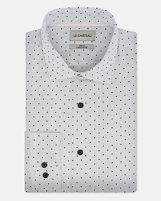 Le Château Dot Print Woven Regular Fit Shirt