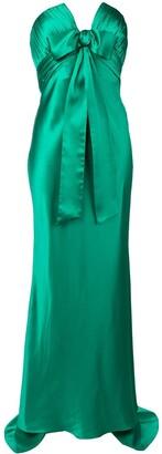 Alessandra Rich strapless evening dress