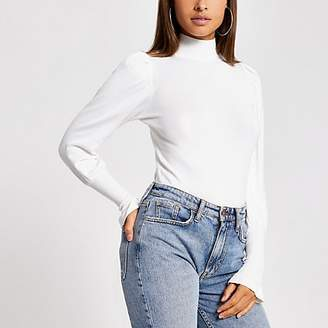 River Island Cream turtle neck long sleeve jumper