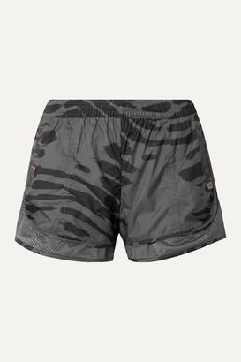 adidas by Stella McCartney Run M20 Mesh-trimmed Printed Climastorm Shorts - Gray
